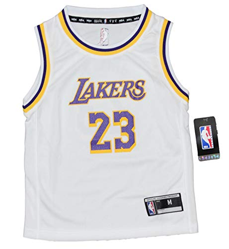 - Outerstuff Lebron James Los Angeles Lakers Kids 4-7 NBA Replica Jersey - White