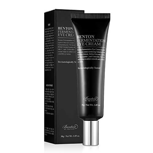 BENTON Fermentation Eye Cream 30g (1.05 oz.) - Galactomyces & Bifida Ferment Anti-Wrinkle Eye Treatment Cream, Dark Circles & Puffiness & Under Eye Bags