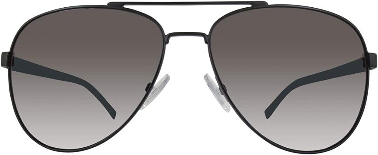 Hugo Boss Boss 0761/S Y1 QIL Gafas de Sol, Negro (Matt Black/Grey), 60 Unisex-Adulto