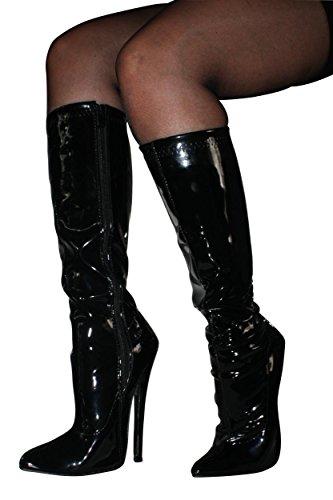 Erogance High Heels Overkneestiefel - Botas para mujer 46 Negro - negro