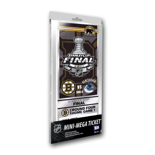 NHL Boston Bruins Game 3 2011 Stanley Cup Final Commemorative Mini-Mega Ticket, Small, White