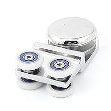 uxcell® Bathroom Shower Double Wheel Glass Bearing Sliding Door Pulley Roller