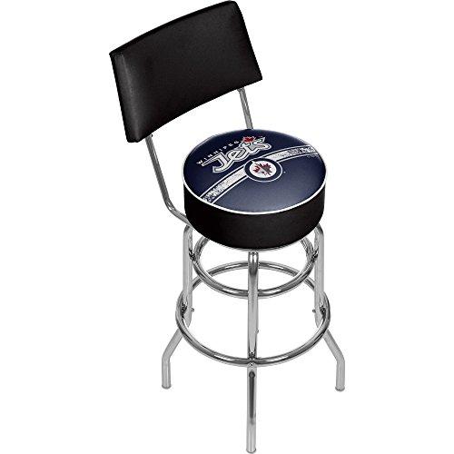 (Trademark Gameroom NHL Winnipeg Jets Swivel Bar Stool with Back )