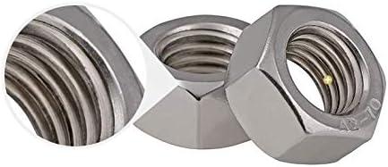 Size : M5 CHENHAN Hex Nut 50Pcs M2 M2.5 M3 M4 M5 M6 M8 304 Stainless Steel Metric Thread Hex Nut Hexagon Nuts Stainless
