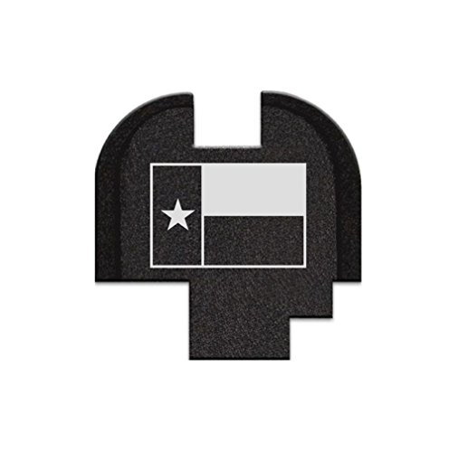 BASTION Laser Engraved Rear Cover Slide Back Plate for Springfield XD-S Mod.2 9mm - Texas Flag