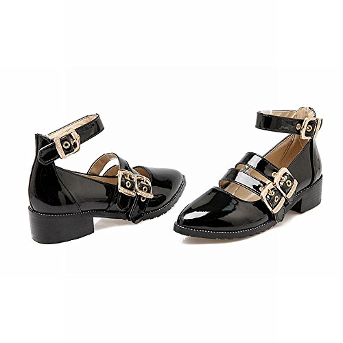 0292e0ad646 60%OFF Latasa Women s Pointed Toe Monk Strap Ankle Strap Chunky Heels Shoes
