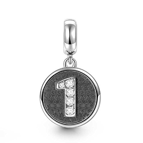 Soufeel Number One Pendant Charm 925 Sterling Silver