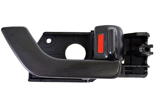 (PT Auto Warehouse HY-2508A-FR - Inside Interior Inner Door Handle, Black - Passenger Side Front)