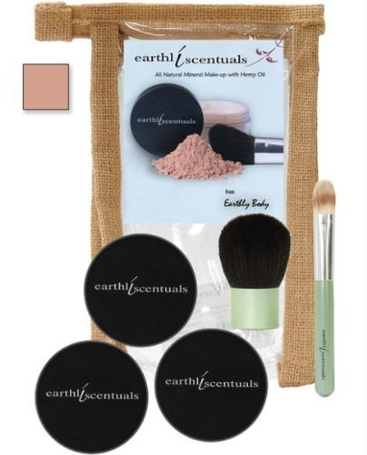 Earthly Body Skin Care Starter Set, Medium Beige, 0.5 Ounce by Earthly Body