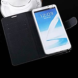 Brushed Flip Leather Case with Card Slot and Stand for Samsung Galaxy Note 3 N9000 --- COLOR:White