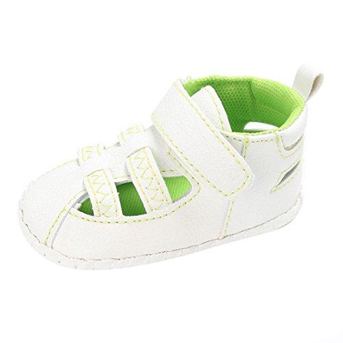 BZLine® Baby Sommer Kleinkind Leder rutschfest Sneakers Baby Sandalen Grün