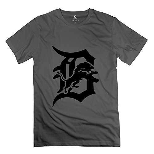 BXGD- Men's Brand New T-shirt Detroit Tigers Logo Size XXL DeepHeather