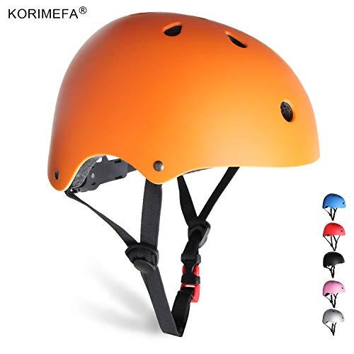 KORIMEFA Skateboard Helmet Youth Adult Helmet Kids Bike Helmet Adjustable Kids Helmet CPSC Certified Multi-Sport Safety Cycling Scooter BMX Helmet