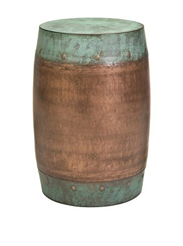 Imax 44195 Rania Copper-Plated Stool – Drum Style Stool, Decorative Accessory, Home Decor. Home Bar Furniture from Imax