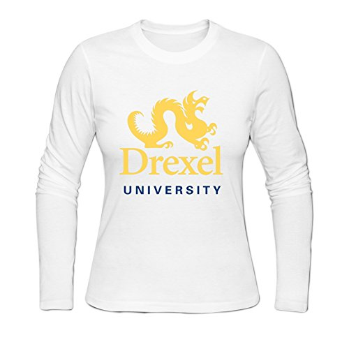 Drexel University Womens Long Sleeve Sweatshirt M White