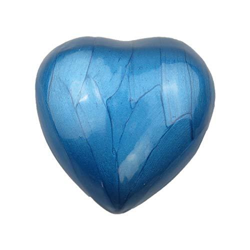 Love to Treasure Royal Blue Enamel Heart Pet or Human Urn Keepsake Dog Cat Ashes Cremation Funeral Memorial