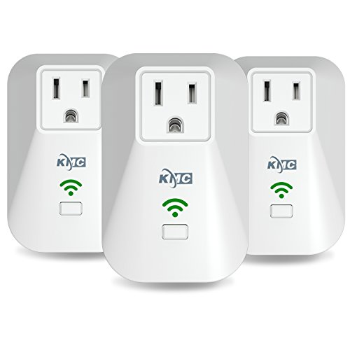 KMC 3 Pack Wi-Fi Smart Plug with Energy Monitoring, Compatible with Amazon Alexa Google Home, No Hub Required, Remote Control Outlet with Timing Function, ETL Listed