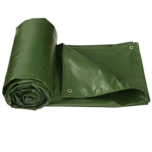 COZY HOME AAA Tarpaulin, waterproof sunscreen Used for outdoor courtyard swimming pool farm tourism picnic blanket Rain cloth size: 32m (green) 550g/m² (Size : 33m)