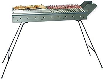 Cuocispiedini - Barbacoa con parrilla de carbón de hierro para pinchos, 110 cm, fabricado