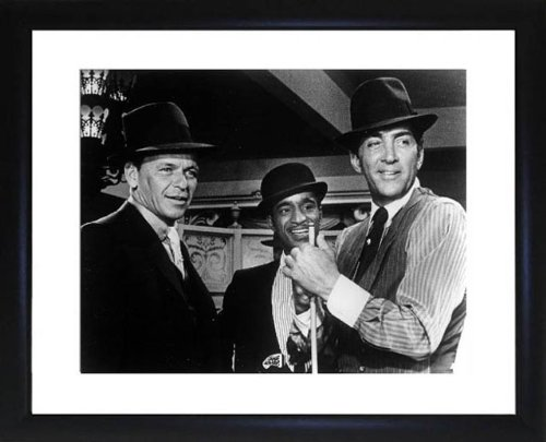 Rat Pack Dean Martin Frank Sinatra and Sammy Davis Jnr Framed Photo by Picture Favourites