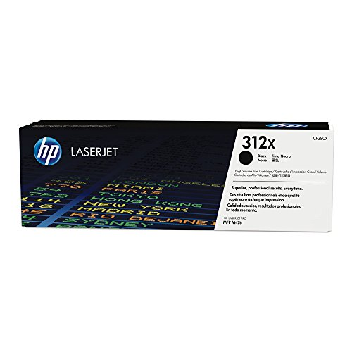 HP 312X (CF380X) Black High Yield Original Toner Cartridge for HP Color LaserJet Pro M476 -