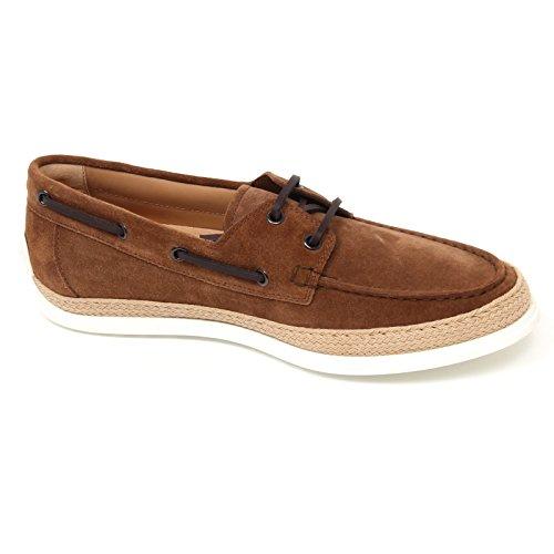 C9976 barca uomo TODS scarpa mocassino rafia marrone loafer shoe man Marrone