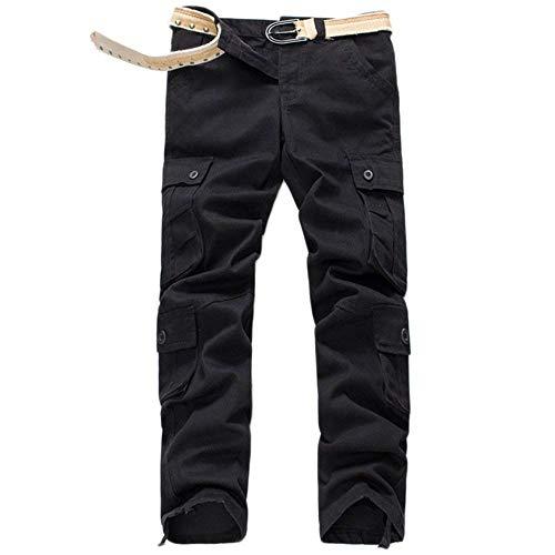 Ssen Big Da Nero Autunno Tempo Multi Giovane En Uomo Boot Cut Libero Pantaloni Saoye Casual Il Per Lavoro Tasche Fashion Culotte wE4XI