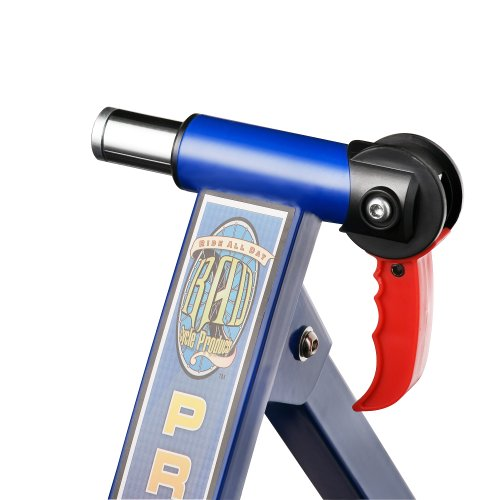 RAD Cycle Products MAX Racer Pro Bicycle Trainer Work Out with 7 Levels of Resistance,Pro Blue