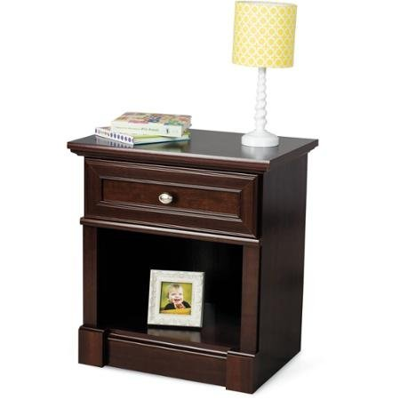 Child Craft Updated Classic Ready-to-Assemble Night Stand, Select Cherry, 1 Drawer and Open Shelf for Additional Storage