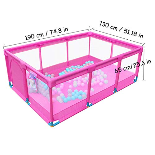 Baby Large Safety Fence Kids Ball Pit Tent - Playpen - for Indoor/Outdoor Fun Activities,Great Birthday Gift for Girl or Boy (Balls Not Included) Pink by CGF- Baby Playpen (Image #2)