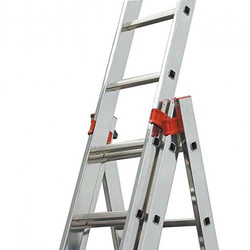 max. 6.85 m Tribilo 120601 Silber 16.3 kg KRAUSE 129673 Aluminium Mehrzweckleiter Arbeitsh/öhe