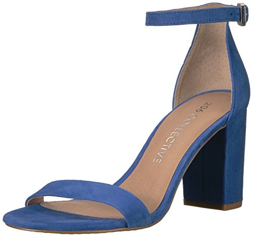 Amazon Brand - 206 Collective Women's Loyal Block Heel Dress Sandal-High Heeled, cobalt blue, 7 B US