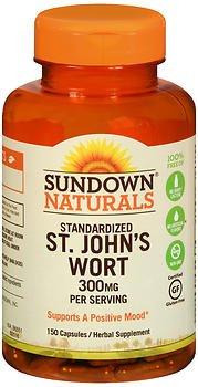 Sundown Naturals Standardized St. John's Wort Capsules 150 ea (Pack of 6)