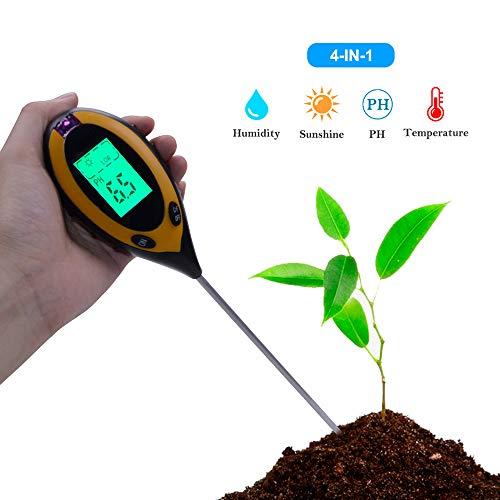 (Soil pH Meter, 3-in-1 Soil Test Kit Moisture, Light & pH Home Garden, Lawn, Farm, Plants, Herbs & Gardening Tools, Indoor/Outdoor Plant Care Soil Tester (without battery))