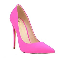 Designed to be a stylish, sexy pump stiletto heel that's comfortable enough to be worn all day. You can rest assured that this tried and true heel design will look great in almost any situation and never goes out of vogue. Even better, with s...