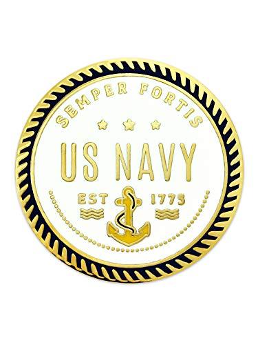 (PinMart U.S. Navy Semper Fortis Military Enamel Lapel Pin Jewelry)