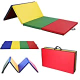 Reliancer 4'x10'x2'' Multicolor Exercise Gym Mat Thick Folding Panel Fitness Exercise Mat For Gymnastics Aerobics Yoga Martial Arts