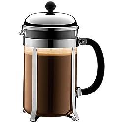 Bodum Chambord 12 cup French Press Coffee Maker, 51 oz, Chrome by Bodum