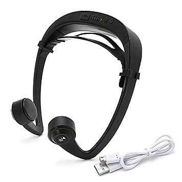 scastoe conducción ósea auriculares, V9 Bluetooth 4.2 inalámbrico auriculares estéreo ruido cancellaction deporte a prueba de sudor auriculares con ...