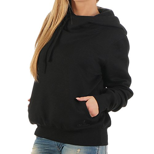 93B5 Finchgirl Lady Hood F1021 Damen Pullover Hoody Kapuzen Schwarz Gr XL