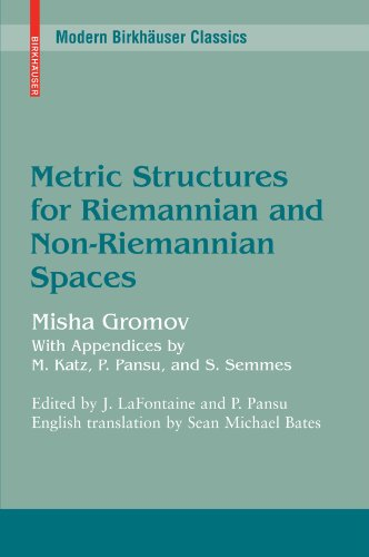 Metric Structures for Riemannian and Non-Riemannian Spaces (Modern Birkhäuser Classics) from imusti