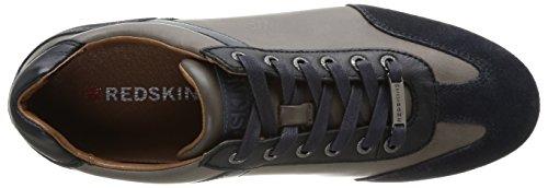Redskins Velgori - Zapatillas de Deporte de cuero hombre azul - Bleu (Navy/Gris)
