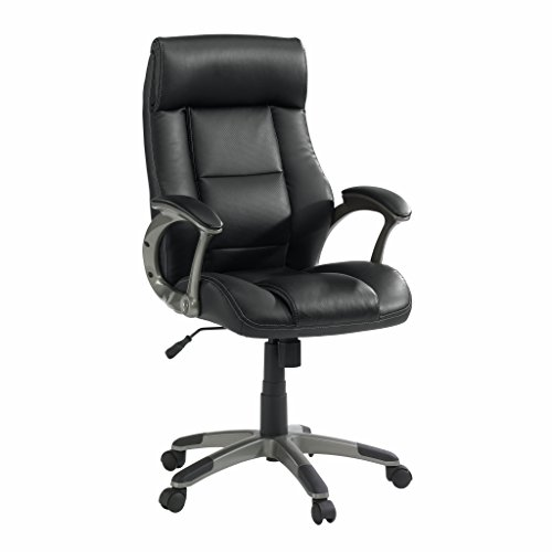 Sauder 414348 Manager Chair Office, Black - Executive Chair Sauder Office Furniture