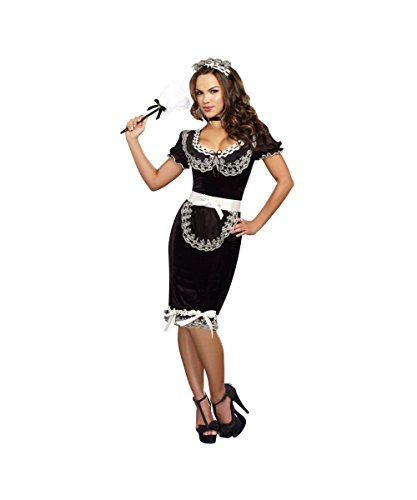 Keep It Clean Adult Costumes (Keep It Clean Sexy French Maid Plus size Womens Halloween Costume)