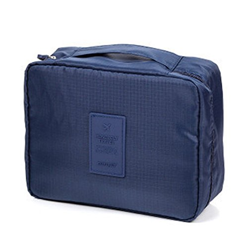 LAAT Bolsa de lavado de viaje Bolso de Cosméticos Bolsa plegable portátil para viajar Bolsa de almacenamiento impermeable para lavado de PVC
