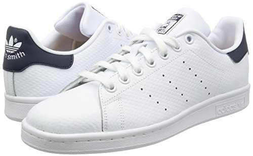 adidas Stan Smith, Zapatillas de Deporte, Hombre Blanco (Ftwwht/Ftwwht/Conavy)