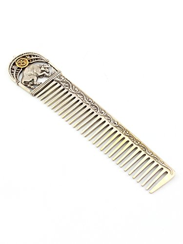 Silver Hair comb with Zodiac Horoscope Astrology Sign ''Taurus'' by Sribnyk - Gallery of Silver Art