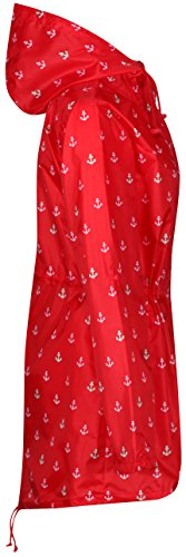 Abrigo Raindrops mujer Print Finesse Anchor para impermeable Red by OqPEv