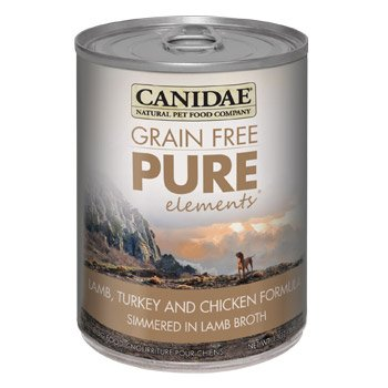 Canidae Grain Free Pure Elements Lamb, Turkey & Chicken Canned Dog Food, Case of 12, 13 oz.