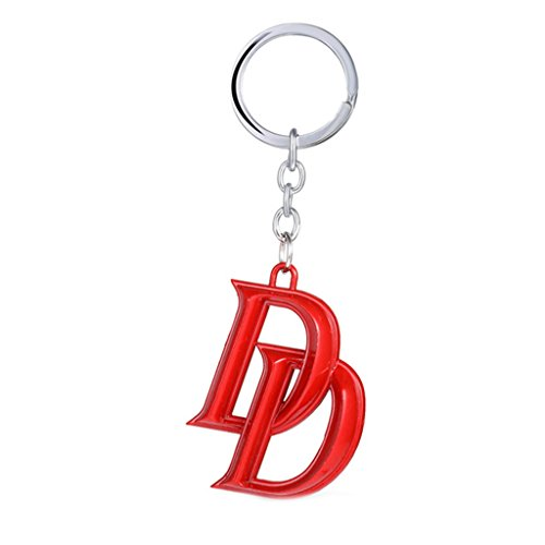 Netflix Marvel Comics Daredevil Logo Auto/Home/Boat Keychain w/Gift Box By (Daredevil Costume Netflix)